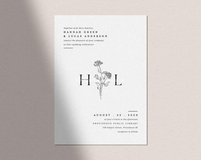 Invitación básica H & L
