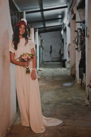 Vestido novia Zamira