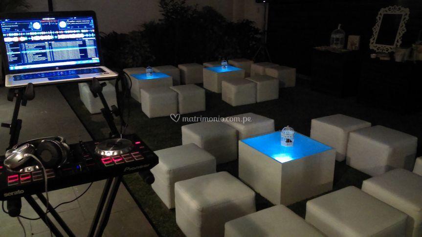 DJ y salitas lounge