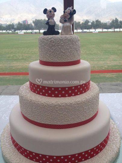 Torta para matrimonio temático