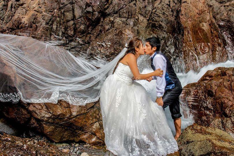 Post-boda en la playa
