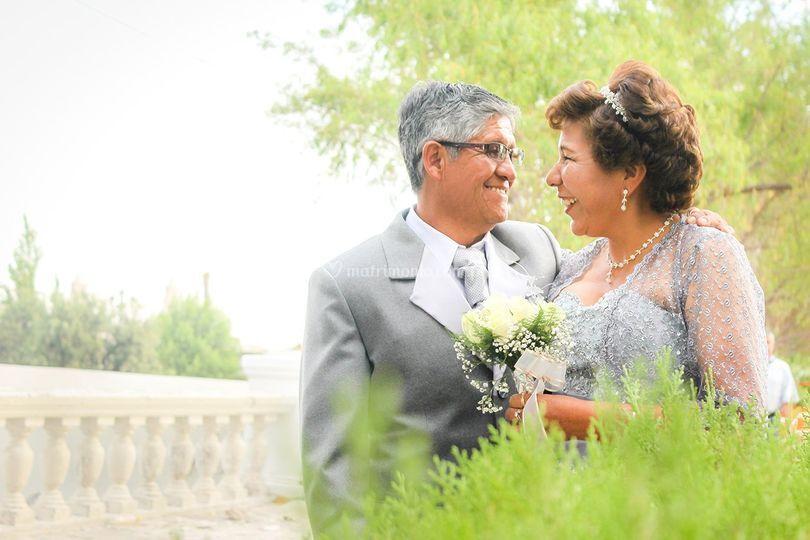 Paseo de novios boda de oro