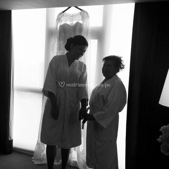 Ayudando a la novia