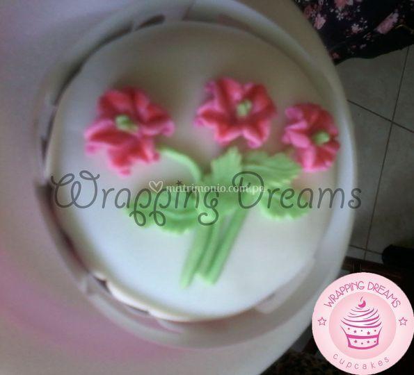 Cupcakes ramo flores