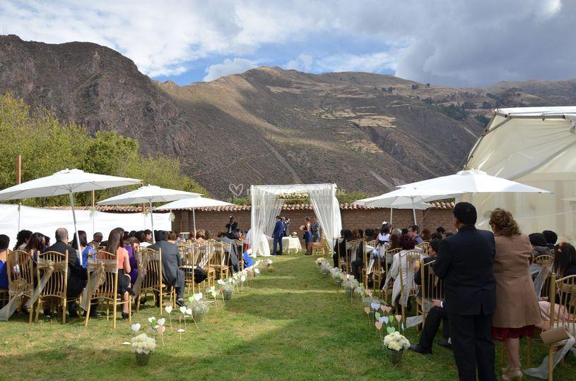 Distribución boda religiosa