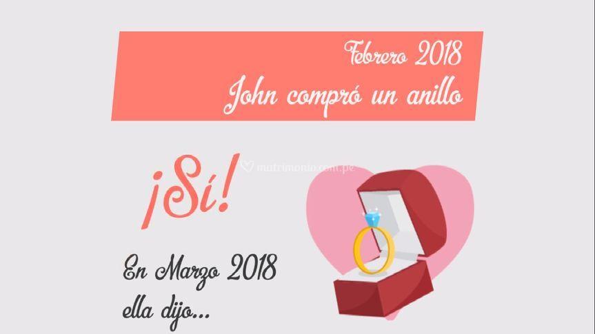 """Invitación """"Historia de Amor"""""""