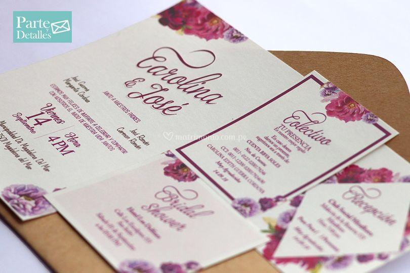 Invitación diseño personalizad