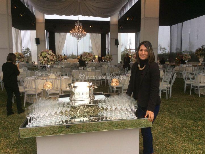 Mesa de champange