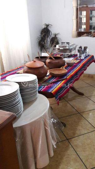 Buffet criollo boda