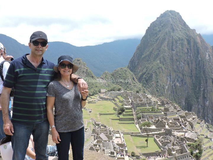 Machu Picchu en pareja