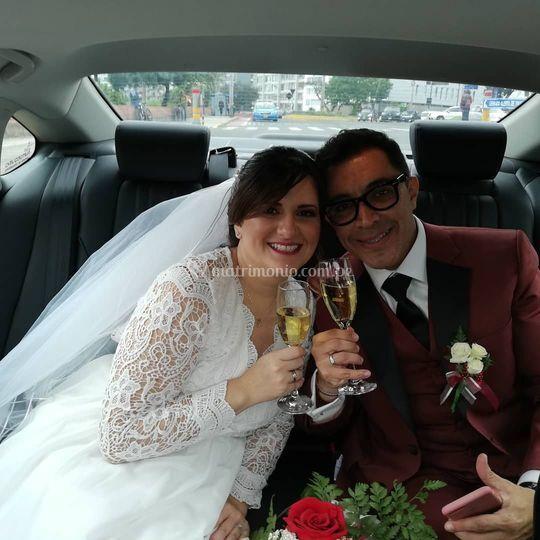 Adolfo Bolivar y esposa