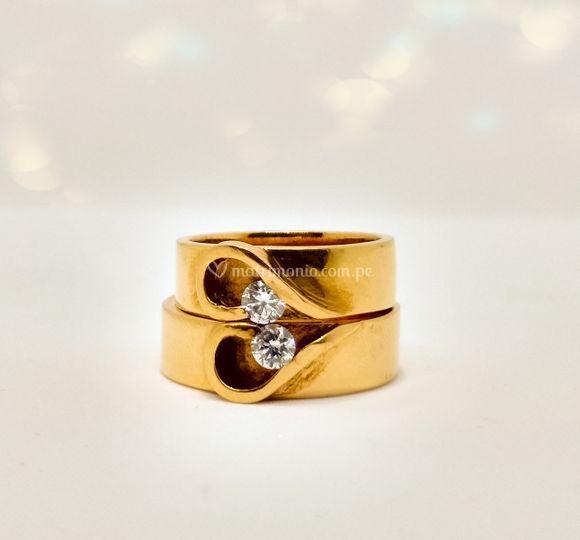 Aros de matrimonio Oro18k