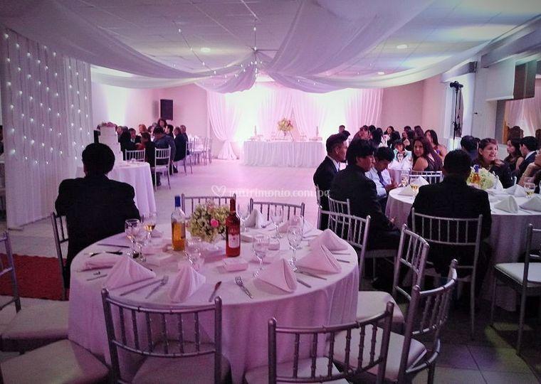 Recepcion boda religiosa