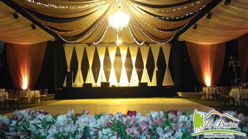 Escenario para show musical