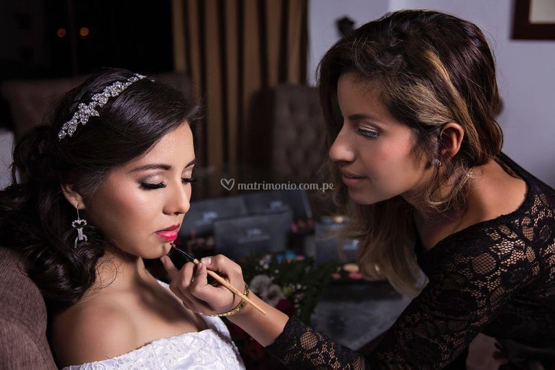 Maquillaje a una novia