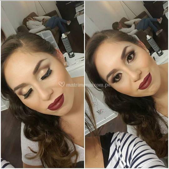 Maquillaje en tonos cálidos
