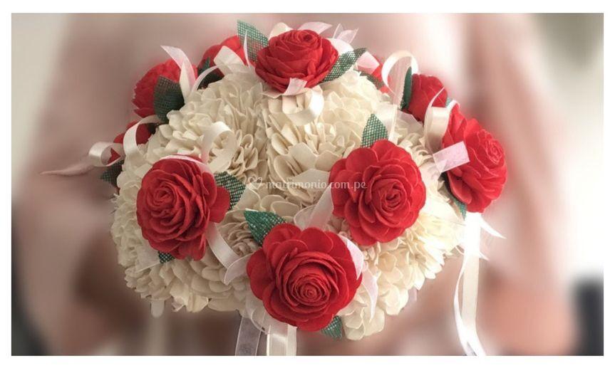 Bouquet de novia de rosas