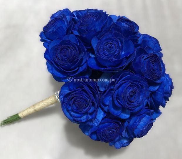 Bouquet de novia azul
