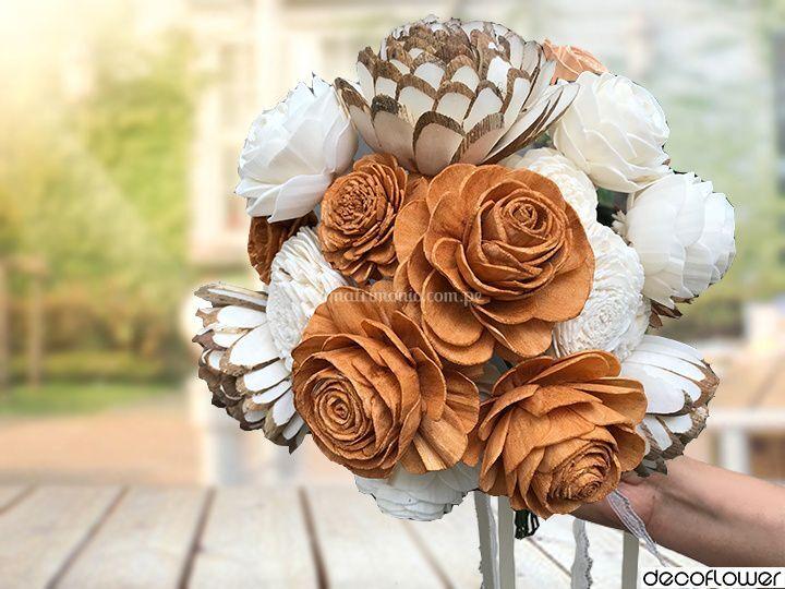 Bouquet de novia dorado