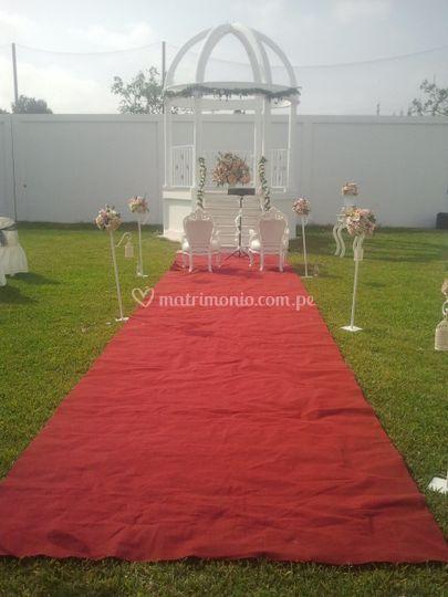 Pérgola para bodas