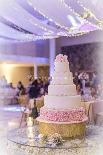 Hermosa torta de bodas
