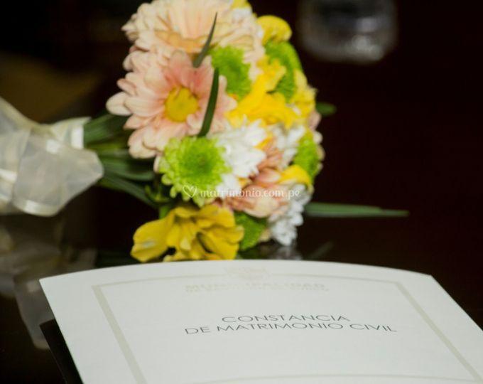Bouquet boda civil