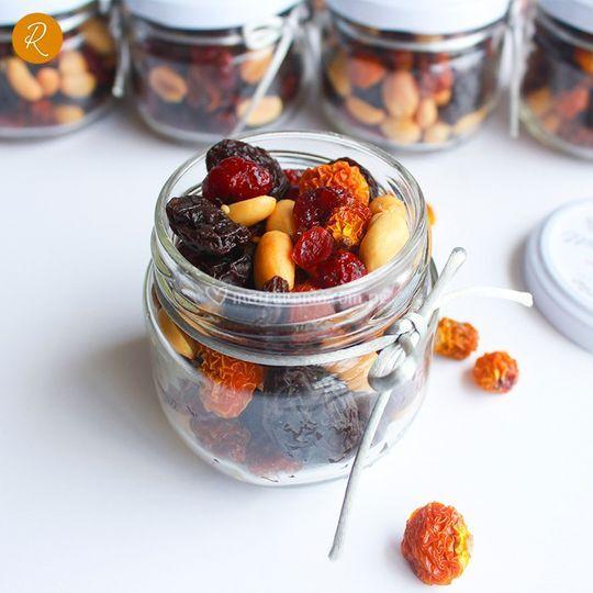 Frascos frutos secos