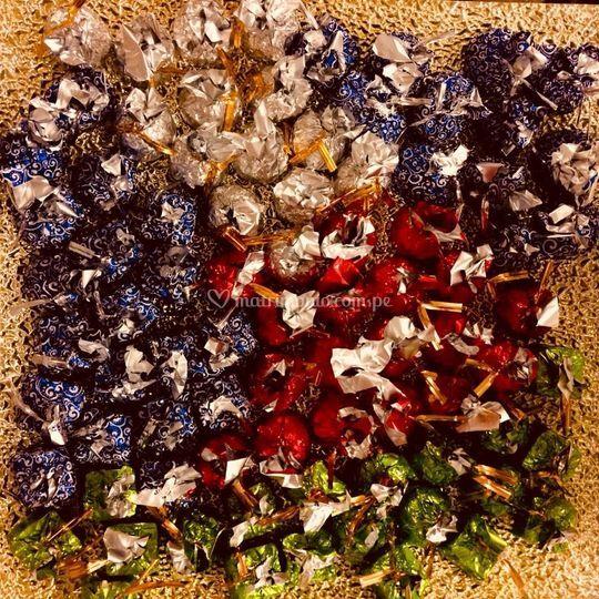 Bombones de mesa de dulces