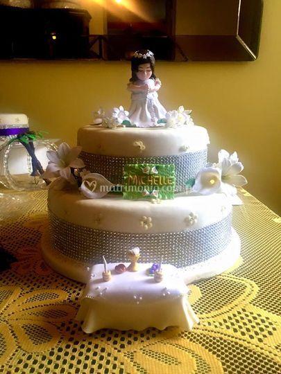 Torta y decoracion comunion