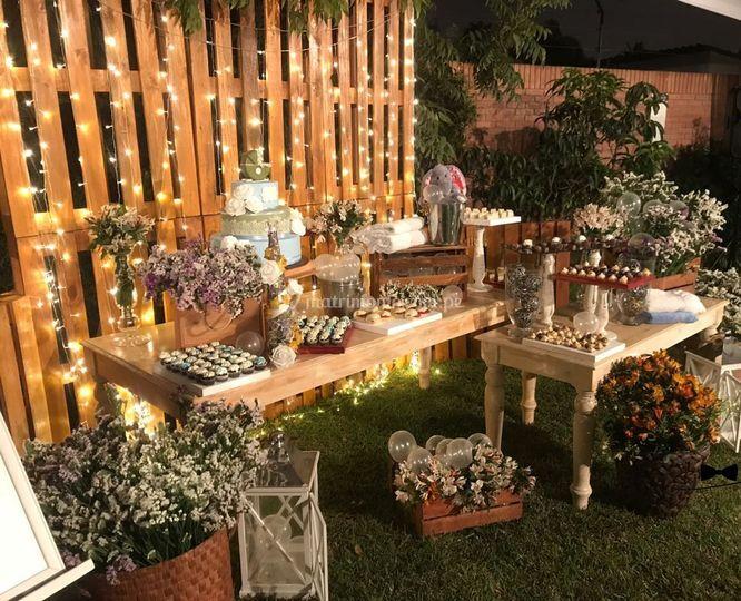 Mesa de dulces temática