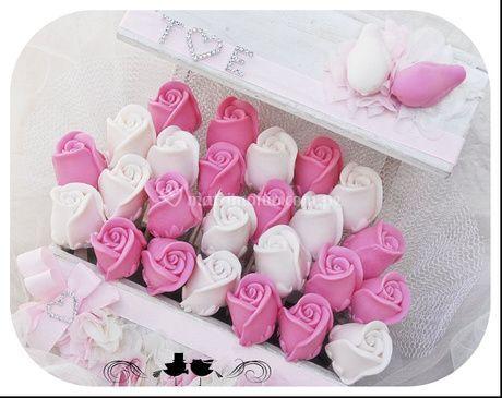 Con forma de rosa