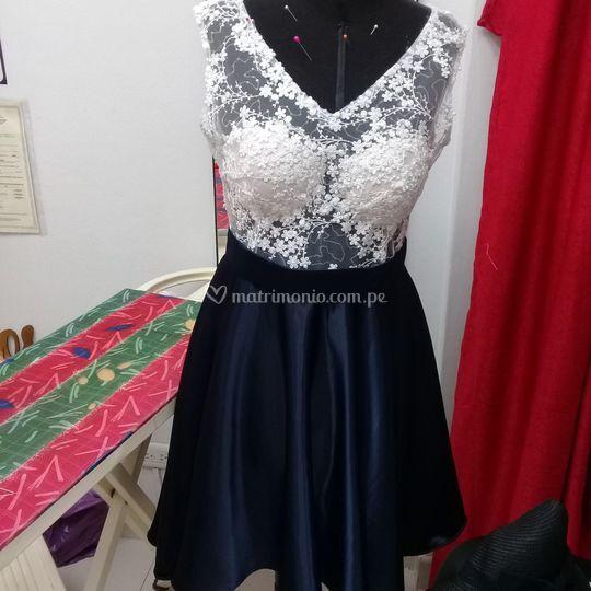 Bello a medida vestido azul