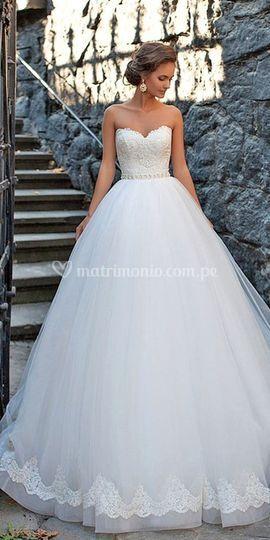 Vestido de novia estilo prince