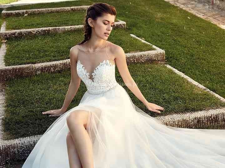Vestido de novia falda corte A