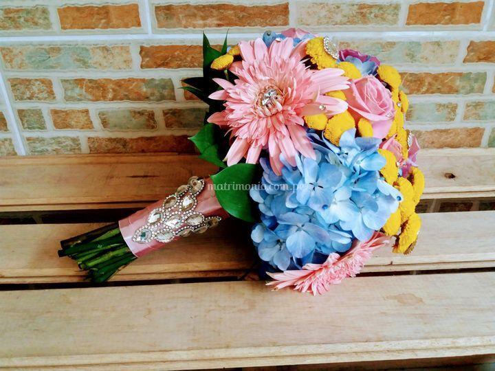 Bouquet con brillantes