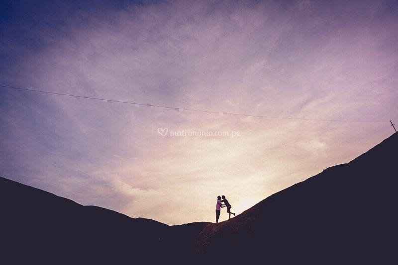 Pre boda juntos en la cima