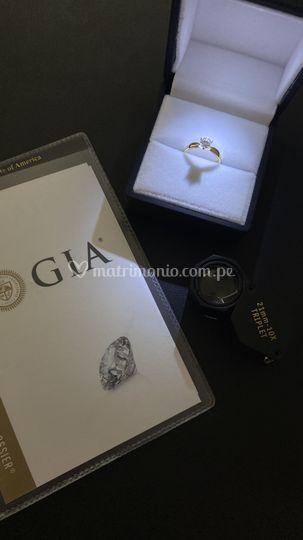 Diamantes con certificado GIA