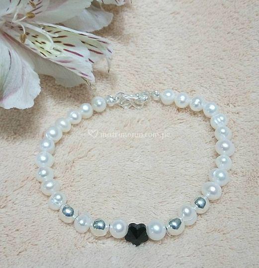 Pulsera perlas-plata-Swarovski