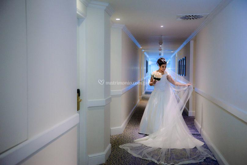 Novia en el hotel belmond