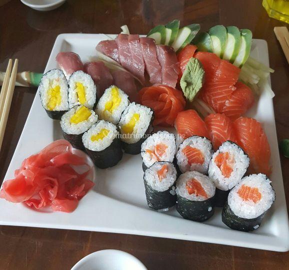 Sashimi, nigiri y makis