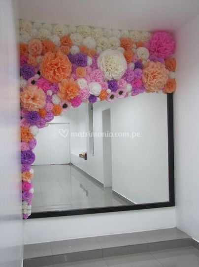 Arco Flores papel seda