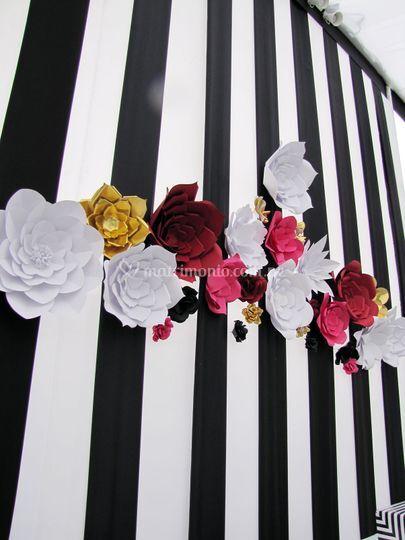 Backing flores de papel