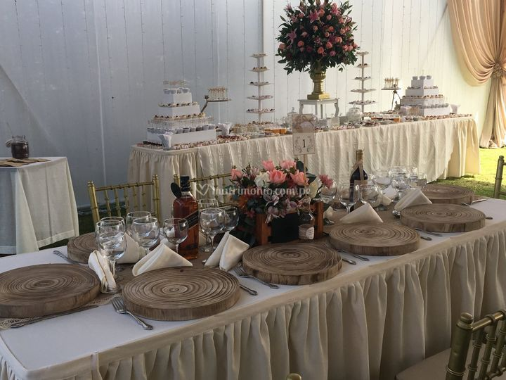 Decoración y catering