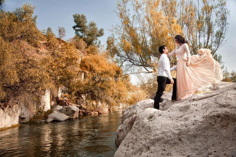 Sesión en río chili