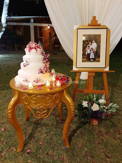 Estación torta boda