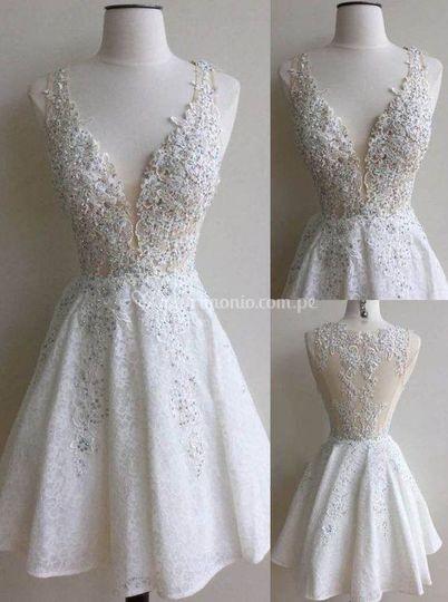 Vestuido de novia civil