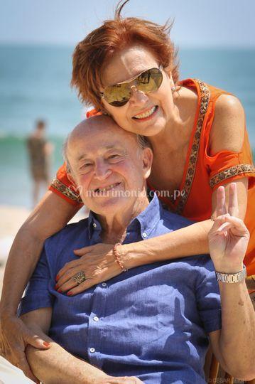 Gino en sus 80 años. Punta Sal