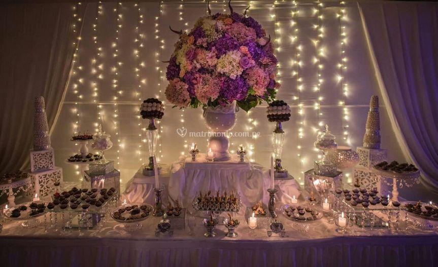 Centros de mesa flores natural