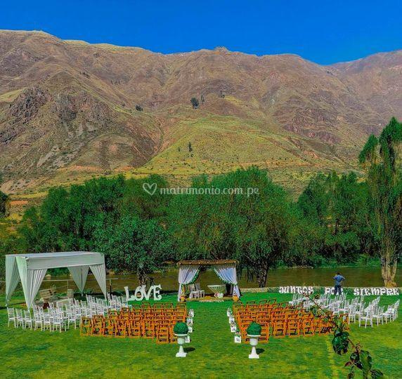 Matrimonio en ribera del valle