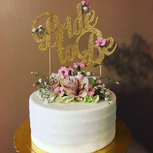 Torta para un brunch de novia